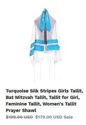 Bat Mitzvah Tallit–Designer pieces for the best price